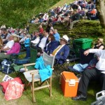 Shading under the tree in an idyllic setting for a brilliant day out