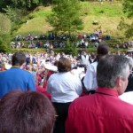 Hardraw Scar Brass Bands contest competitors massed band finale