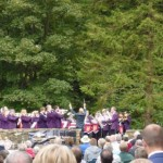 One more of the fourteen Hardraw Scar Brass Bands contest competitors