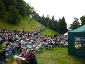 Hardraw Scar Brass Bands contest - view to the Spectator seats