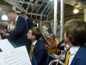 Silsden Town Band Celebrate with Harold at his 100th Birthday Celebrations