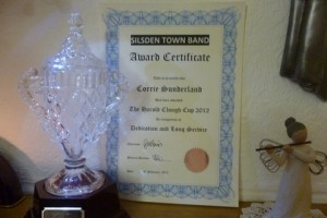 Corrie Sutherland Award for 2012 - Harold Clough Cup