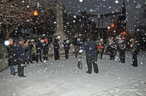 Silsden Town Band Perform in Snowstorm - 28th November 2010